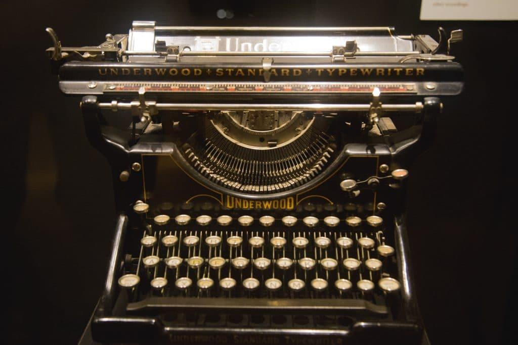 Vintage typewriter. Photo by Wes Hicks on Unsplash.